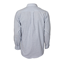 White & Blue Striped Long Sleeved Shirt