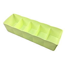 DIHE Candy Color Separated Underwear Boxes in Drawer 1PC GREEN
