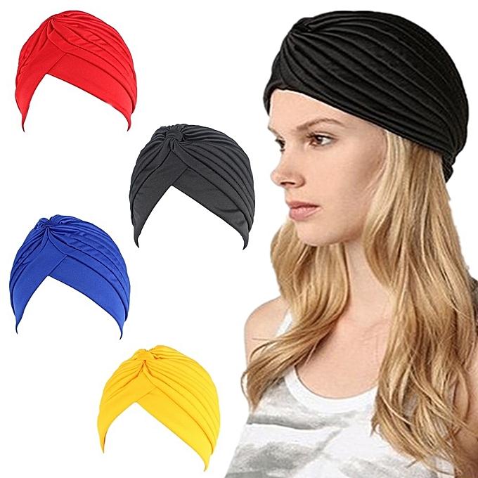 c465771931d Bandanas Headband Stretchy Turban Muslim Hat Headband Wrap Chemo Hijab  Knotted Indian Cap Adult Headband for