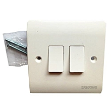 Wall Switch Panel Two Switch Single Control 250V 10A