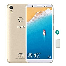 "Camon CM - 5.7"" -13MP + 13MP Camera ,  16GB - 2GB Ram - Champagne Gold + Free Protective C"
