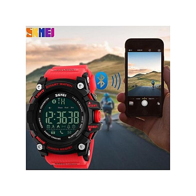 Hot Sales Skmei 1227 Watch Men's Sports Wristwatches Smart Pedometer Bluetooth Men's LED Alarm Waterproof Digital