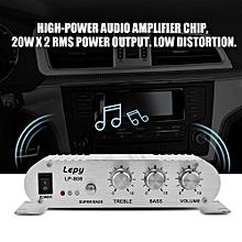 Home Audio Power Amplifier Mini 20W 2 Channel HiFi Stereo Bass Auto Car Home Audio Power Amplifier Digital Amp