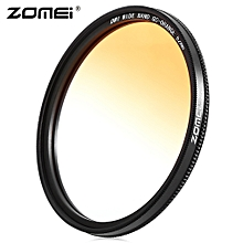 GC - SLIM 62mm Graduated Color Filter For Nikon DSLR Cameras Lens - Orange