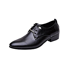 New business casual men  039 s leather shoes - black brown - 46 d0f94372be8d