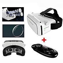 VR SHINECON Moke Plastic Version VR 3D Glasses Google Cardboard Glasses With Bluetooth Wireless Mouse Gamepad