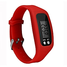 Multifunction Smart Sport Bracelet Pedometer Activity Tracker Wristband red