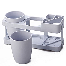 Toothbrush Cup Toothbrush Holder Suit -Grey