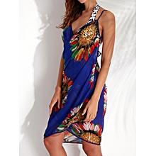 Chiffon Beach Sling Looes Backless Colorful Swimwear Cover-Ups