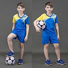 2018 New Brand Children Kid Boy And Adult Men's Football Soccer Team Training Sports Jersey Set-Blue