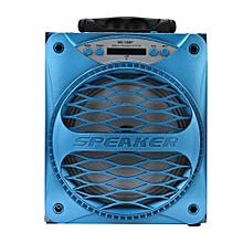 Sport Bluetooth Wireless Portable Speaker Super Bass with USB/TF/AUX/FM Radio-Blue