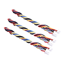 3PCS 5 Pin Silicone Cable for TBS UNIFY PRO HV/Race RunCam Swift 2/Owl 2-