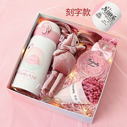 Generic Thermos Cup Gift Box Perfume Night The Light Style Make To Order Engrave A WordThe Birthday Girls Net Red Ins Walks Young Girl Heart Of