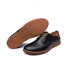 British men's casual shoes pu leather oxford business formal shoes non-slip boat shoes.