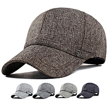 Unisex Leisure Baseball Cap Outdoor Shade Hat Cotton and Linen Fabrics