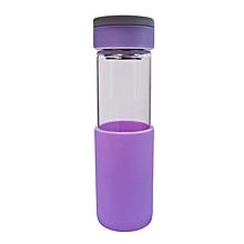 Glass Water Bottle - 550ml - Purple