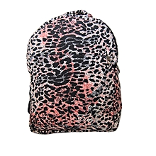 Durable cotton wildlife school bag with cheetah prints