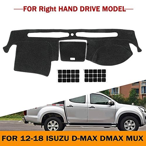Dashboard Cover Dashmat Dash Mat Pad W/ Sticker For 12-18 Isuzu D-MAX DMAX  MUX