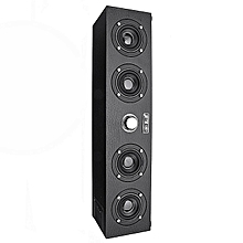 AT FIRST SIGHT Q7 Wood 4x3.5W 4 Horns 3D Stereo Bass Bluetooth 4.0 Speaker Support AUX USB FM Radio