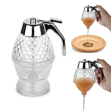 200ML Lovely Honey Dispenser Acrylic Storage Pot Juice Honey Comb Drip Bottle Kitchen Tool