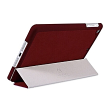 iPad Mini Retina Baseus Simplism Series Wake Up Fold Stand Leather Case Smart Cover for iPad Mini 2 Retina (Dark Red) Mll-S