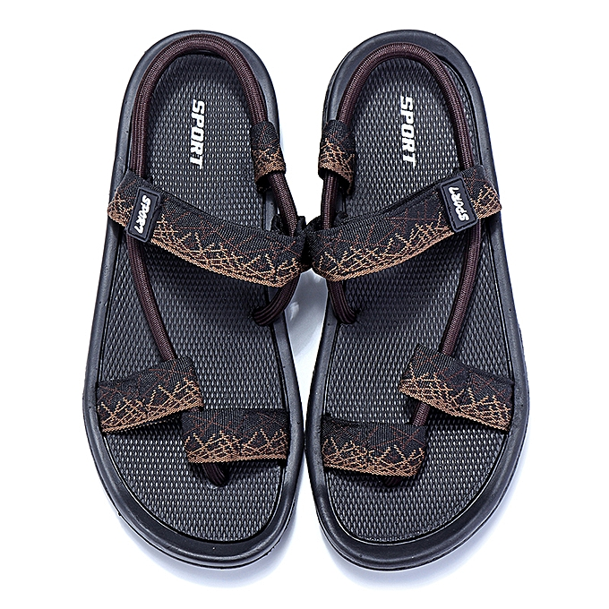 897ecc6cb3f7 ... Men Casual Beach Sport Sandals Fisherman Slippers Flip Flops Clip Toe  Shoes ...