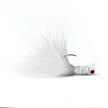 UJ HENG JIA 5pcs Simulation Fishing Bionic Lure Fly Hook Tackle Supply-White-White