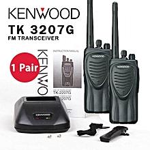 Kenwood TK-3207 TK3207 3207 16 Channel UHF Rechargeable 2 Way Radio Walkie Talkie (1 Pair)
