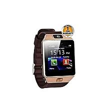 Smartwatch DZ09 Bluetooth Smart Watch - 128MB ROM - 64MB RAM - 0.3MP Camera - Gold/Brown