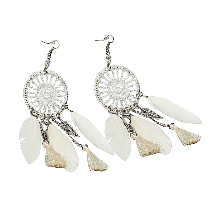 Buy Fashion New Bohemia Feather Beads Long Design Dream Catcher Extraordinary Dream Catcher Earrings Online