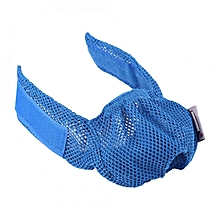 Breathable Pet Cat Mesh Muzzle Mouth Mask Face Cover Anti-biting & Licking & Meowing(Blue)