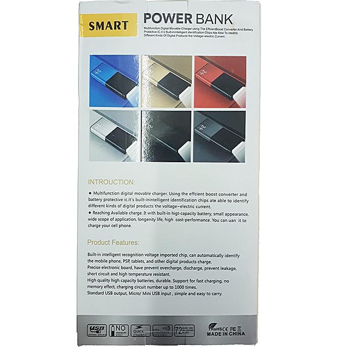 20000mAh Smart Power Bank with Flashlight - Black1
