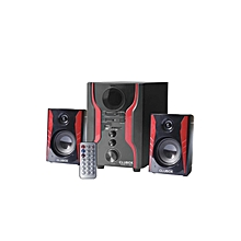 FOL-2403--2.1CH Multimedia Speaker - Black & Red
