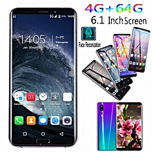 4GB+64GB Touch Screen 6.1 Inch Android 8.1 Smartphone Dual-SIM  Bluetooth GPS Mobile Phone Purple
