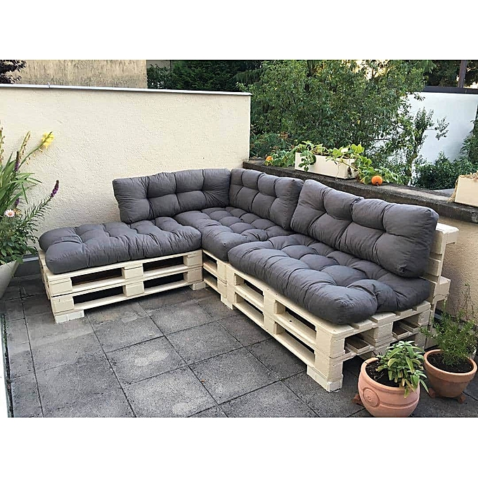 Buy Superior Furniture Pallet Fabric L Shape 5 Seater