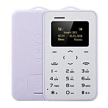Ultra thin Cellphone Mobile Phone Mini Bluetooth 2.0 Dialer Metal Anti-black