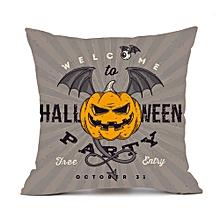 Happy Halloween Pillow Cases  Linen Sofa Cushion Cover Home Decor F