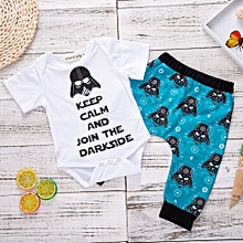 Baby Kids Boy Girl Cotton Clothes Set  letter Bodysuit+pants