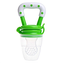 Green Baby Infant Fresh Food Fruits Soft Bite Feeder Pacifier Silicon Nipple