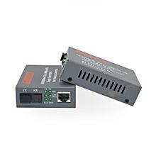 2Pcs Fiber Optical Transceiver Fiber Media Converter POF Media Converter