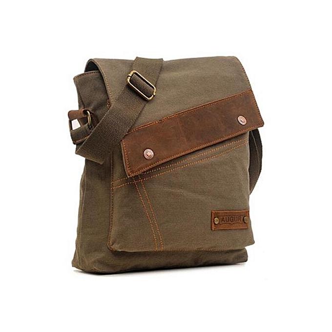 85c54362ccae Business Men s Bag Fashion Shoulder Bag Leather Canvas Messenger Bag