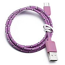 Genuine Nylon Braided USB 3.1 Type-C Data Sync Charger Charging Cable 1M -Pink