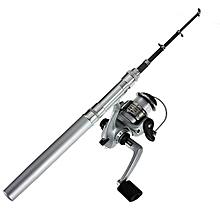 Fishing Rod Mini Portable Telescopic (Silver)