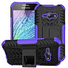 "For Galaxy [J1 ACE] Case, Hard PC+Soft TPU Shockproof Tough Dual Layer Cover Shell For 4.3"" Samsung J110, Purple"