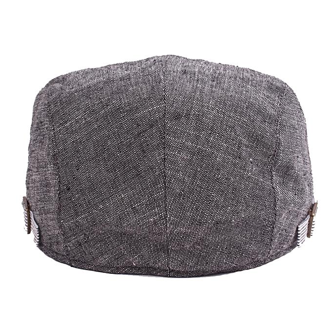 ... Men Cotton Beret Hat Buckle Adjustable Paper Boy Newsboy Cabbie Golf  Gentleman Cap 1ea0cdcaec31