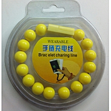 Wearable Bracelet USB Charging Line , Data Cable for iPhone 5 /5S and iPhone 6 /6S - Yellow
