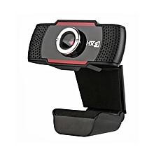 S20 - 180 Degree USB 0.3 Megapixel HD Camera Webcam With Microphone - Black