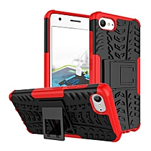 "For ZUK Z2 Case, Hard PC+Soft TPU Shockproof Tough Dual Layer Cover Shell For 5.0"" Lenovo Z2 Plus Z2131, Red"
