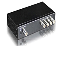 Video Signal Splitter - 4 Ports-Black