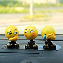 Creative Shaking Head Emoji Car Dashboard Decoration Ornament Car Home Office Dolls-Crafty Expression